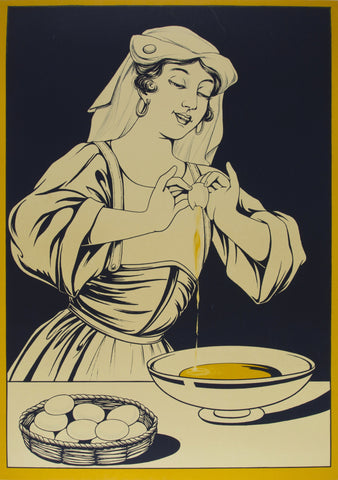 Woman With Egg Yolk