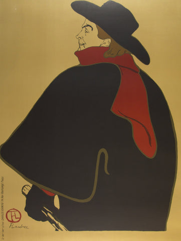 Toulouse Lautrec man in a cape