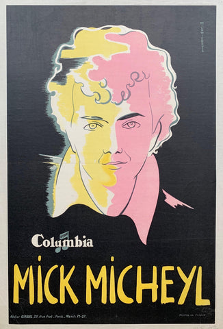 "Columbia Disques ""Mick Micheyl"" - Poster Museum"