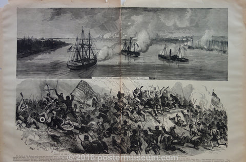 Bombardment of Port Hudson by Admiral Farragut's Fleet