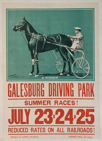Galesburg Driving Park - Summer Races! Reduced Rates on all Railroads!
