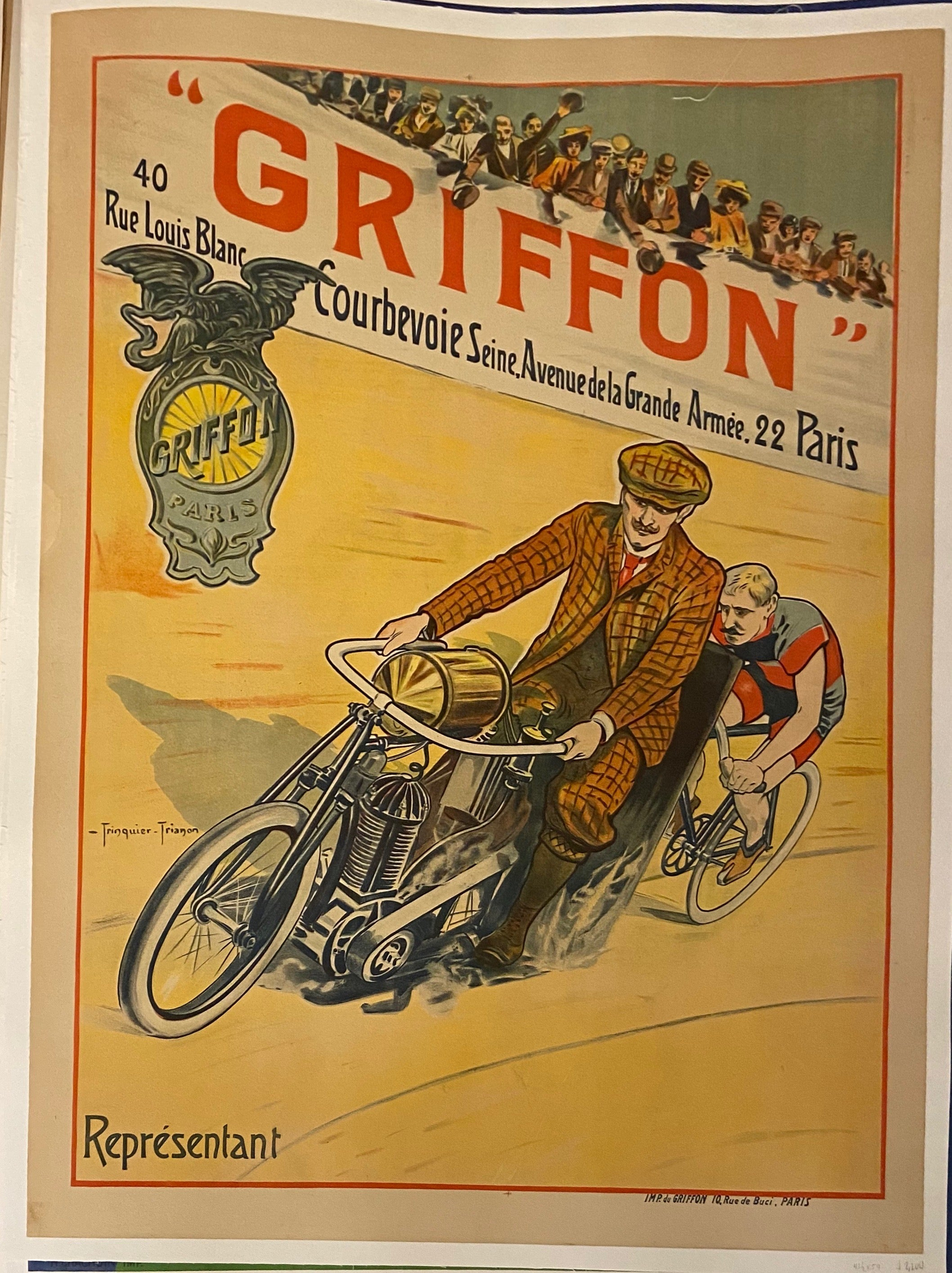 Griffon Motorcycles Vintage Poster