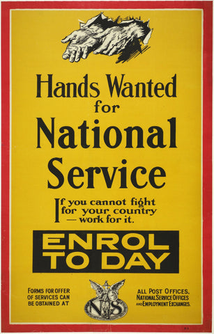 Hands Wanted for National Service