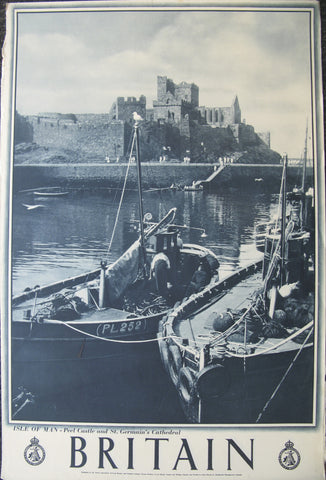 Britain - England, Isle of Man - Peel Castle and St. Germain's Cathedral