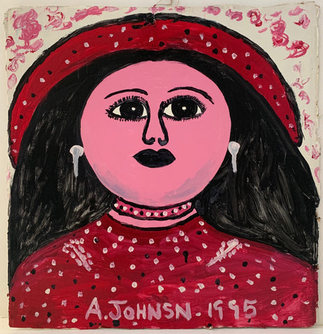 Woman in Red Anderson Johnson Painting