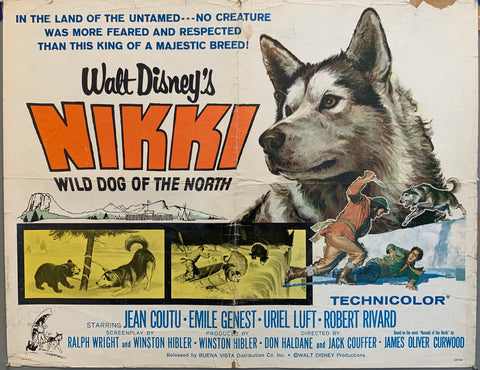 dog on movie poster nikki wild dog of the north movie walt disney
