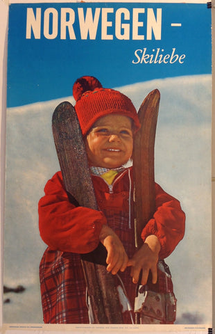 Norwegan Skiliebe Travel Poster