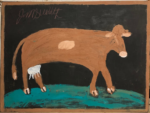 Brown Cow #33, Jimmie Lee Sudduth Painting