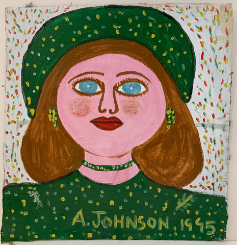 Blue-Eyed Woman Anderson Johnson Painting