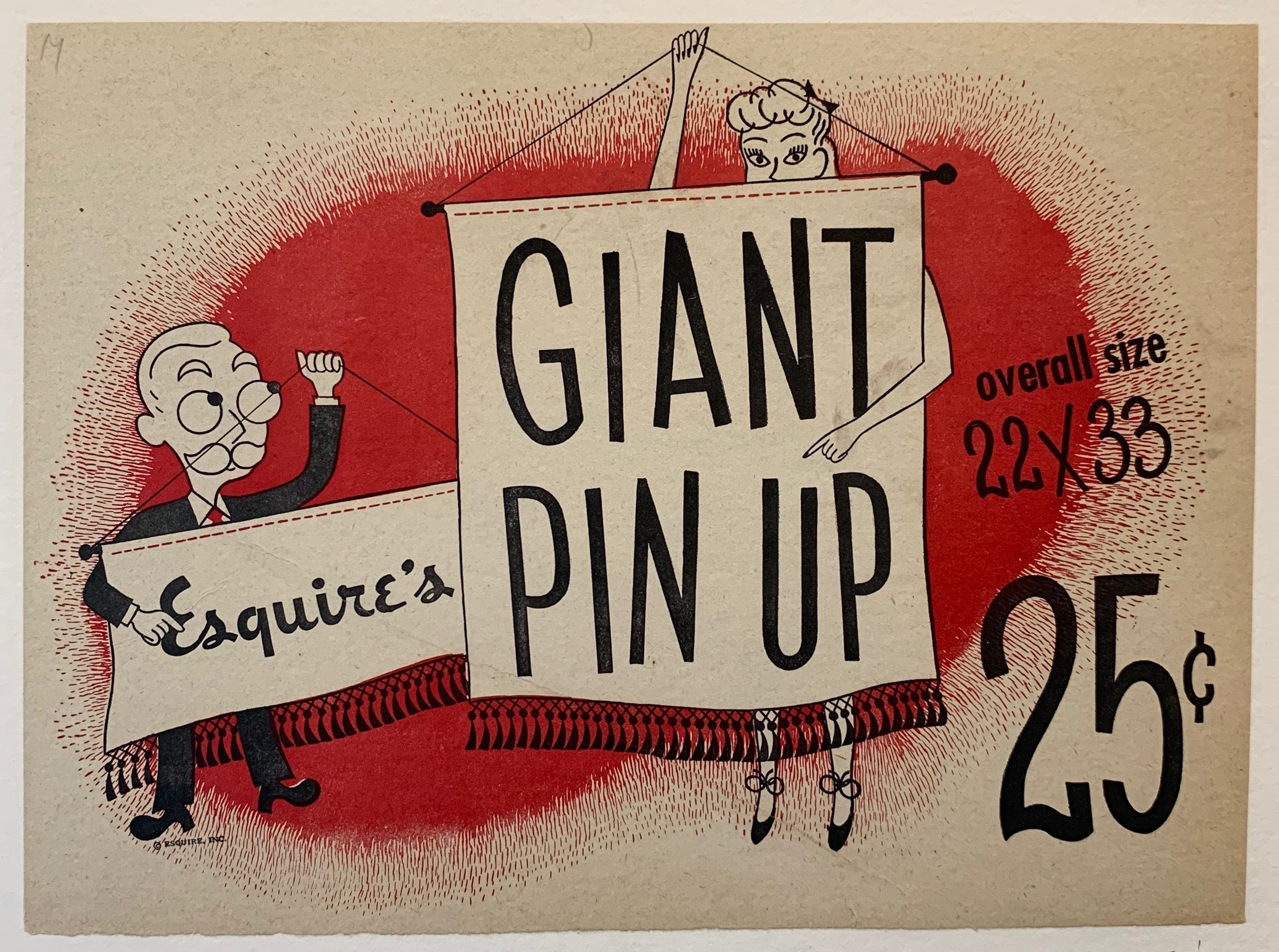 Esquire's Giant Pin Up