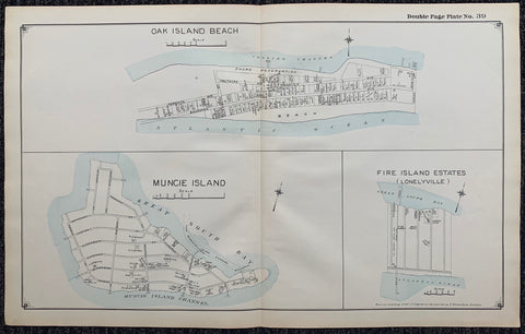 Long Island Index Map No.2 - Plate 39 Oak Island Beach Muncie Island Fire Island Estates (Lonelyville)