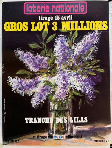 "Loterie Nationale - ""Tranche des Lilas"" 15 Avril"