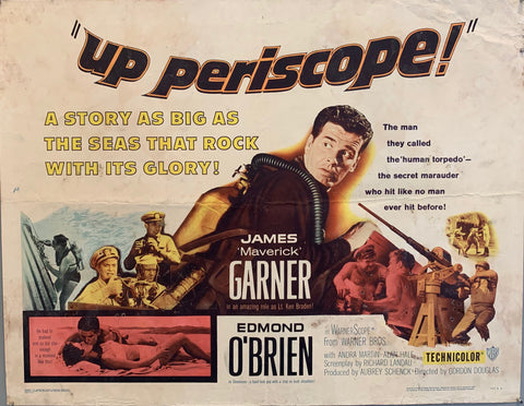 james garner in army uniform in battle during world war 2up periscope movie poster