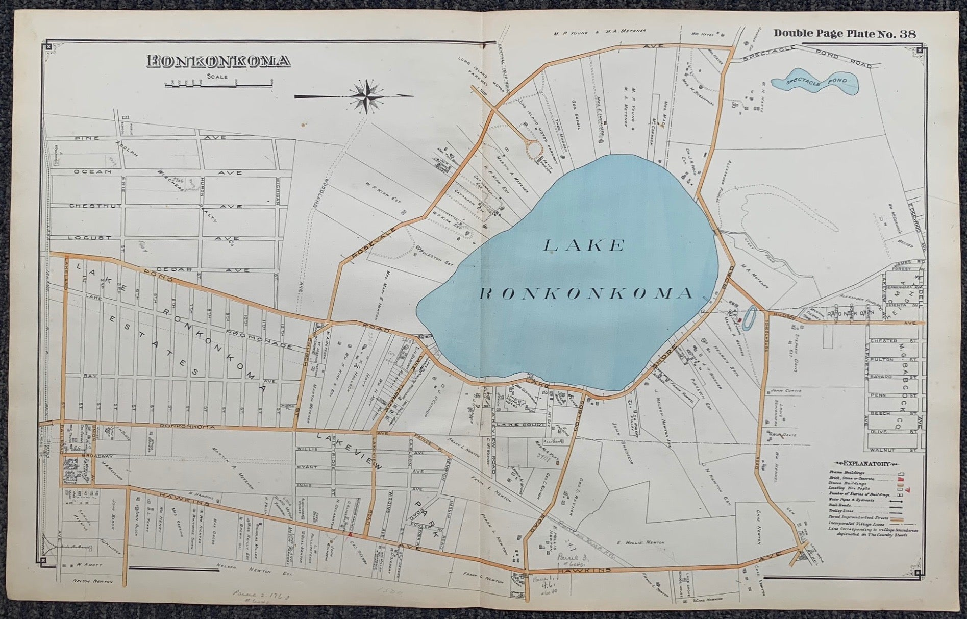 Long Island Index Map No.2 - Plate 38 Lake Ronkonkoma