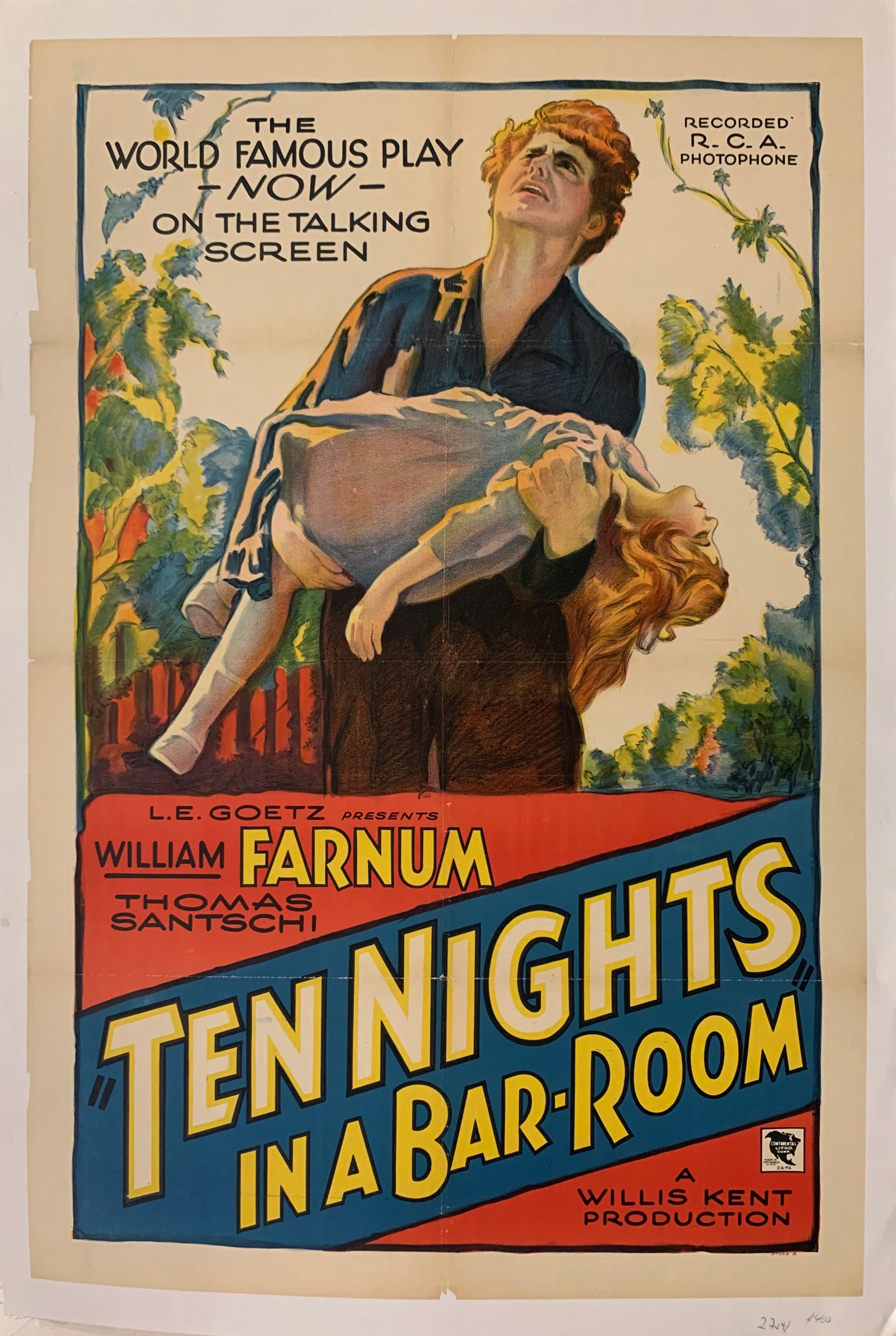 Ten Nights in a Bar Room Film Poster