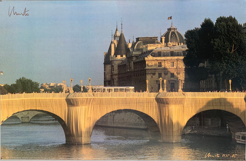 Christo's Wrapped Pont Neuf Paris France Poster
