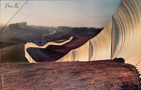 Christo's Running Fence California Photograph Poster