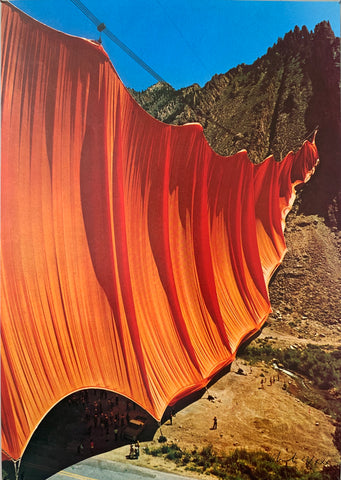 Christo's Valley Curtain Rifle Colorado Poster