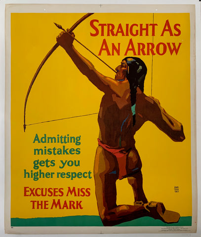 Straight as an Arrow Mather Poster