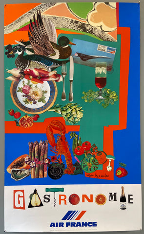 Air France Gastronomie Poster