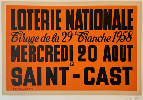 "Loterie Nationale: ""Orange"" - Poster Museum"