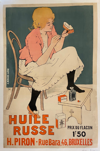 Poster of a woman in pink shining her pink high heels