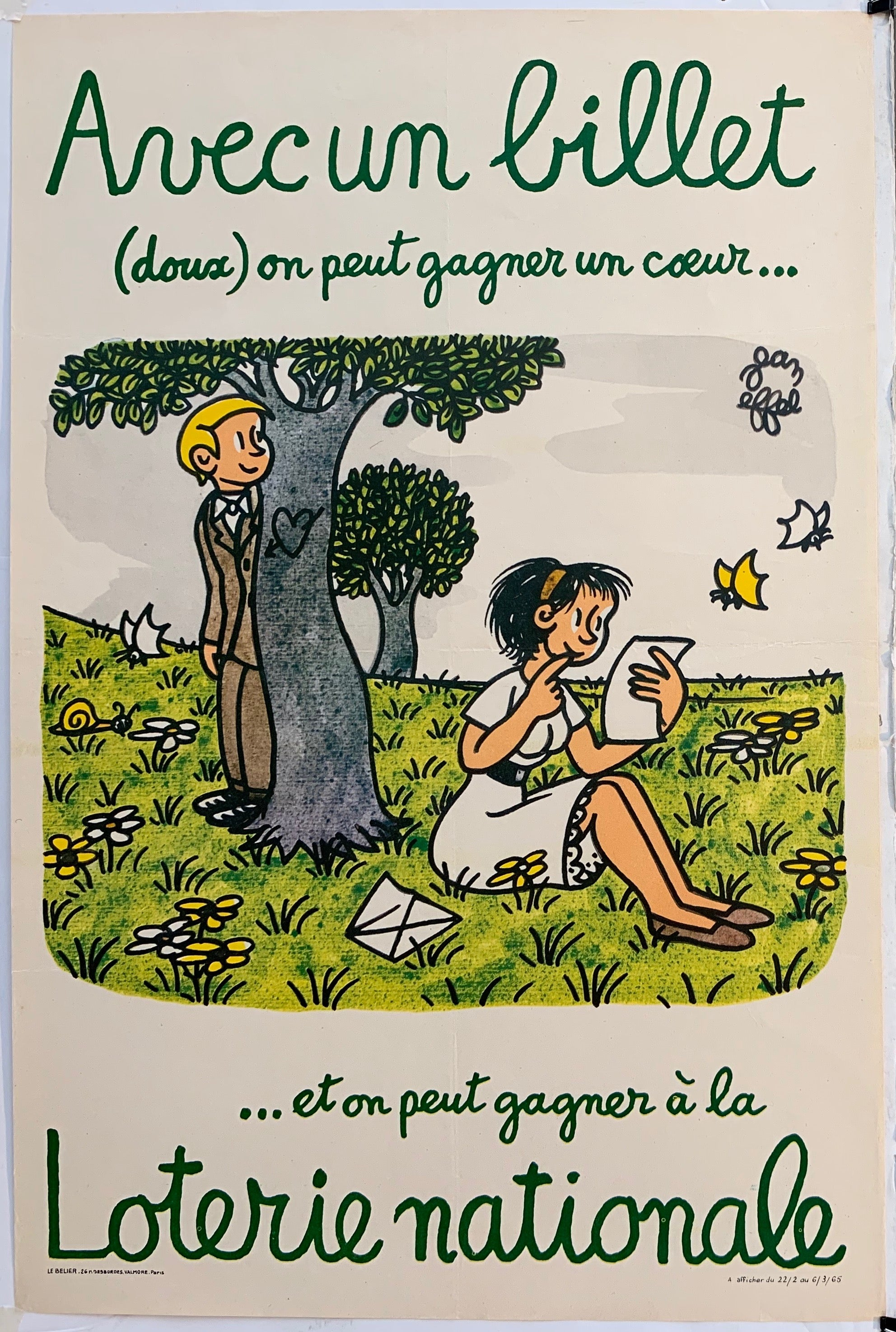 French Lottery Poster - Lovers
