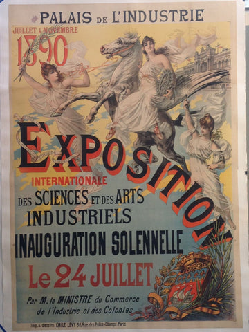 Exposition Internationale Des Sciences Et Des Arts Industriels Inauguration Solennelle