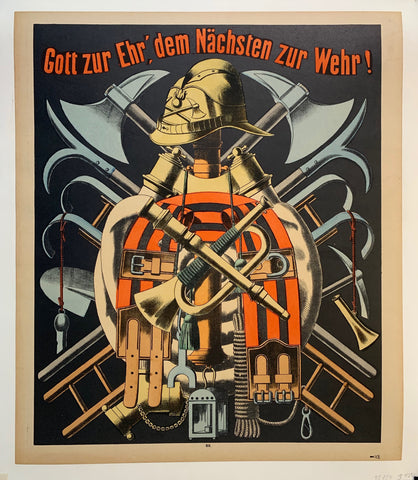 German Firefighter Poster