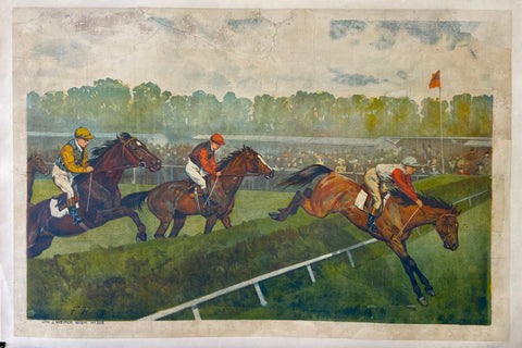 Print of a horse race