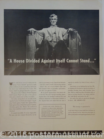 """A house divided against itself cannot stand..."""