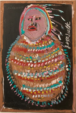 Portrait of a Native American Chief #92, Jimmie Lee Sudduth Painting