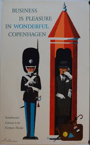 "Business is Pleasure in Wonderful Copenhagen ""Scandinavian Gateway to the European Market"" - Poster Museum"