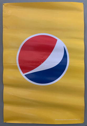 pepsi logo on a yellow background