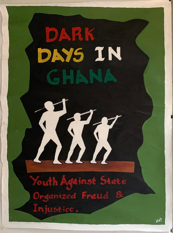 Dark Days In Ghana Painting