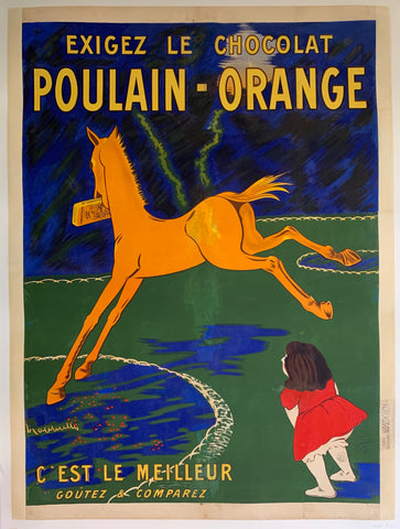 Le Chocolat Poulain-Orange Poster