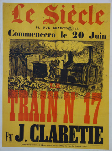 Le Siecle Train N. 17 par J. Clarettie poster