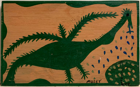 Spikey Bird Mose Tolliver Painting