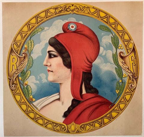 """RF"" Portrait of Lady in Red"