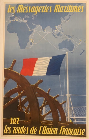 Messageries Maritime Poster