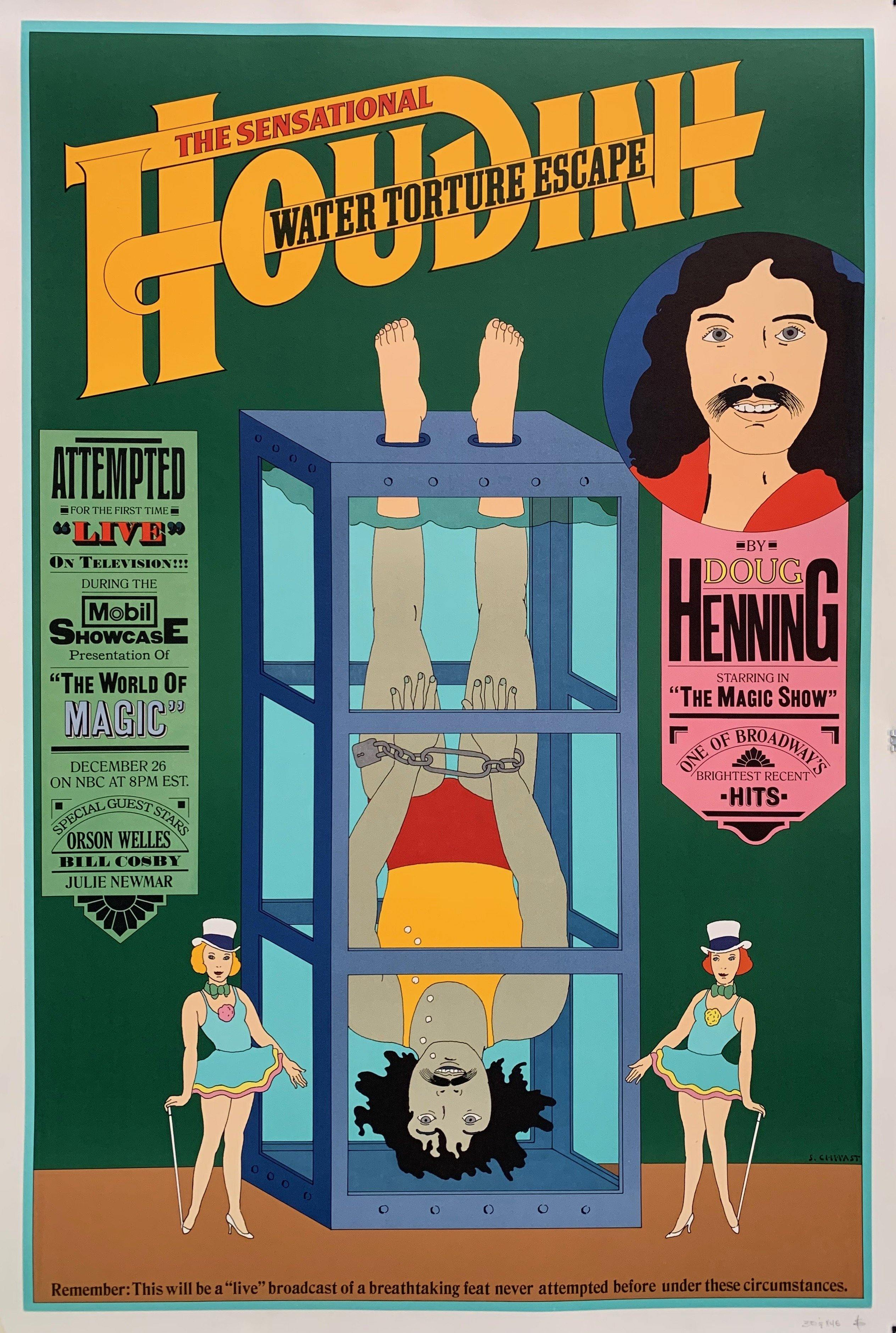 The Sensational Houdini Water Torture Escape