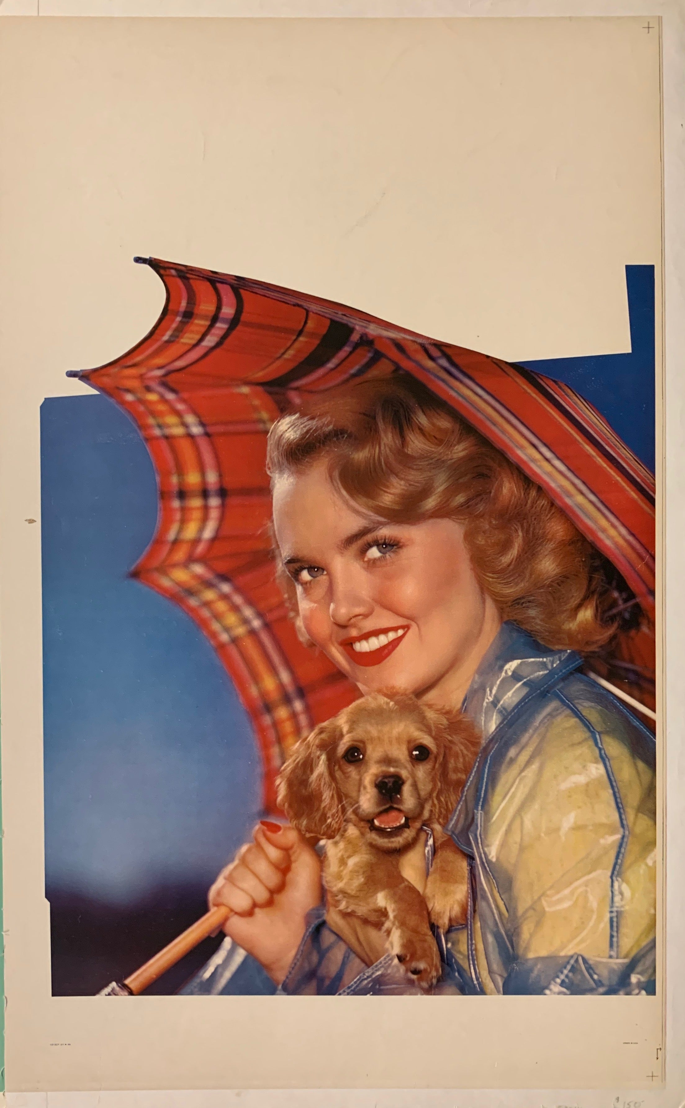 Woman with Umbrella Pinup Poster