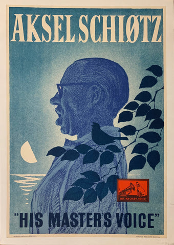 "Aksel Schiotz ""His Masters Voice"" Poster"