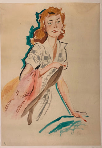 Woman Shopping Poster