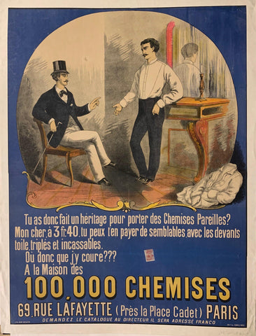100,000 Chemises Poster - Poster Museum