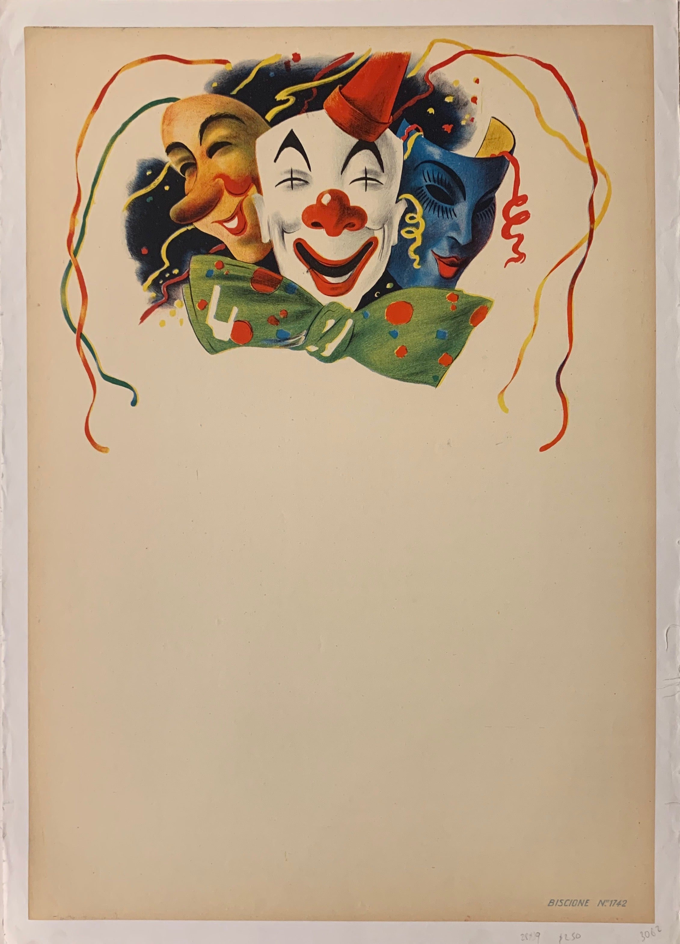 Clown Mask Poster