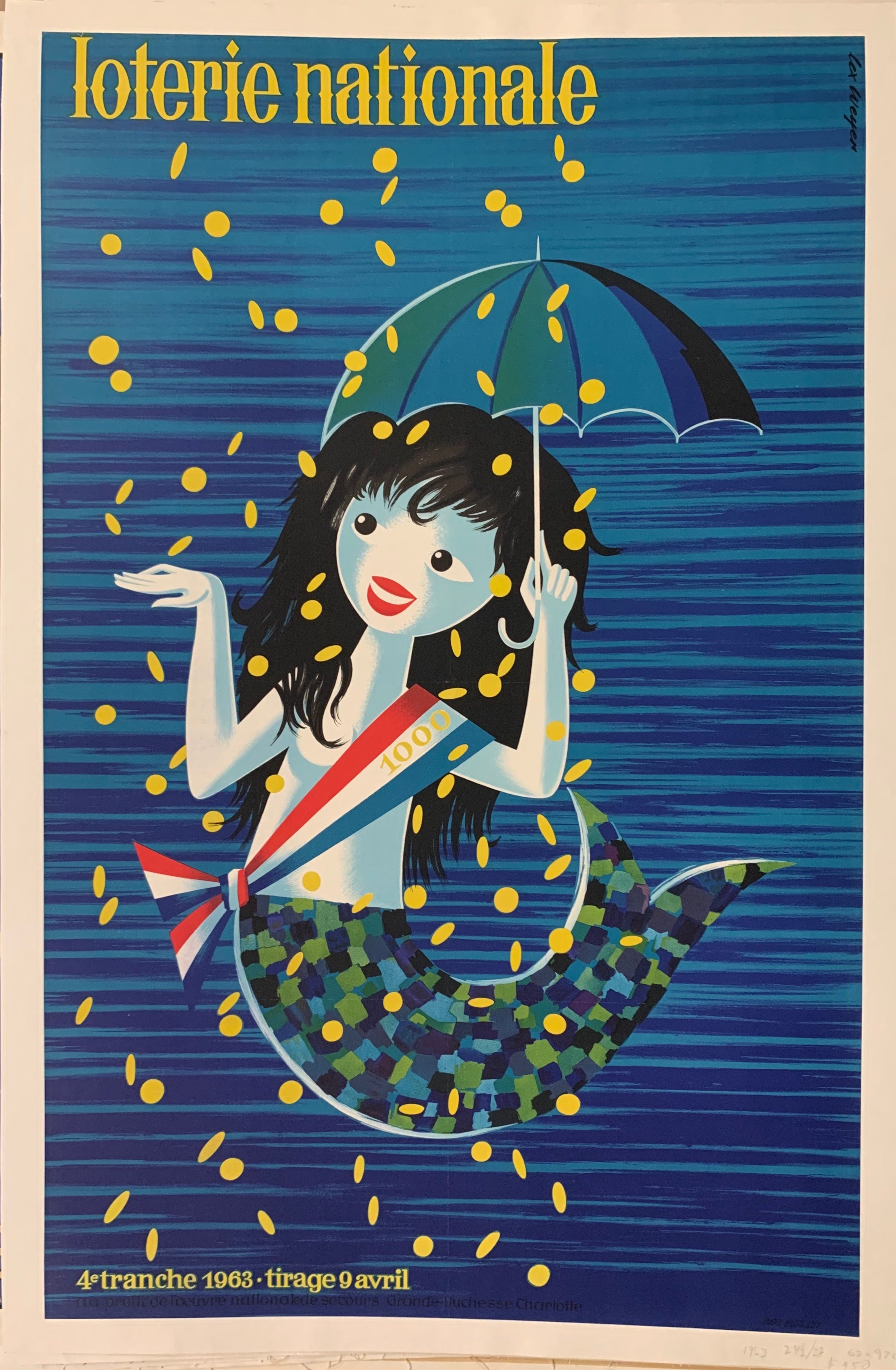 Loterie Nationale Mermaid Poster