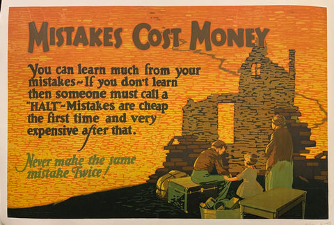 Mistakes Cost Money Poster