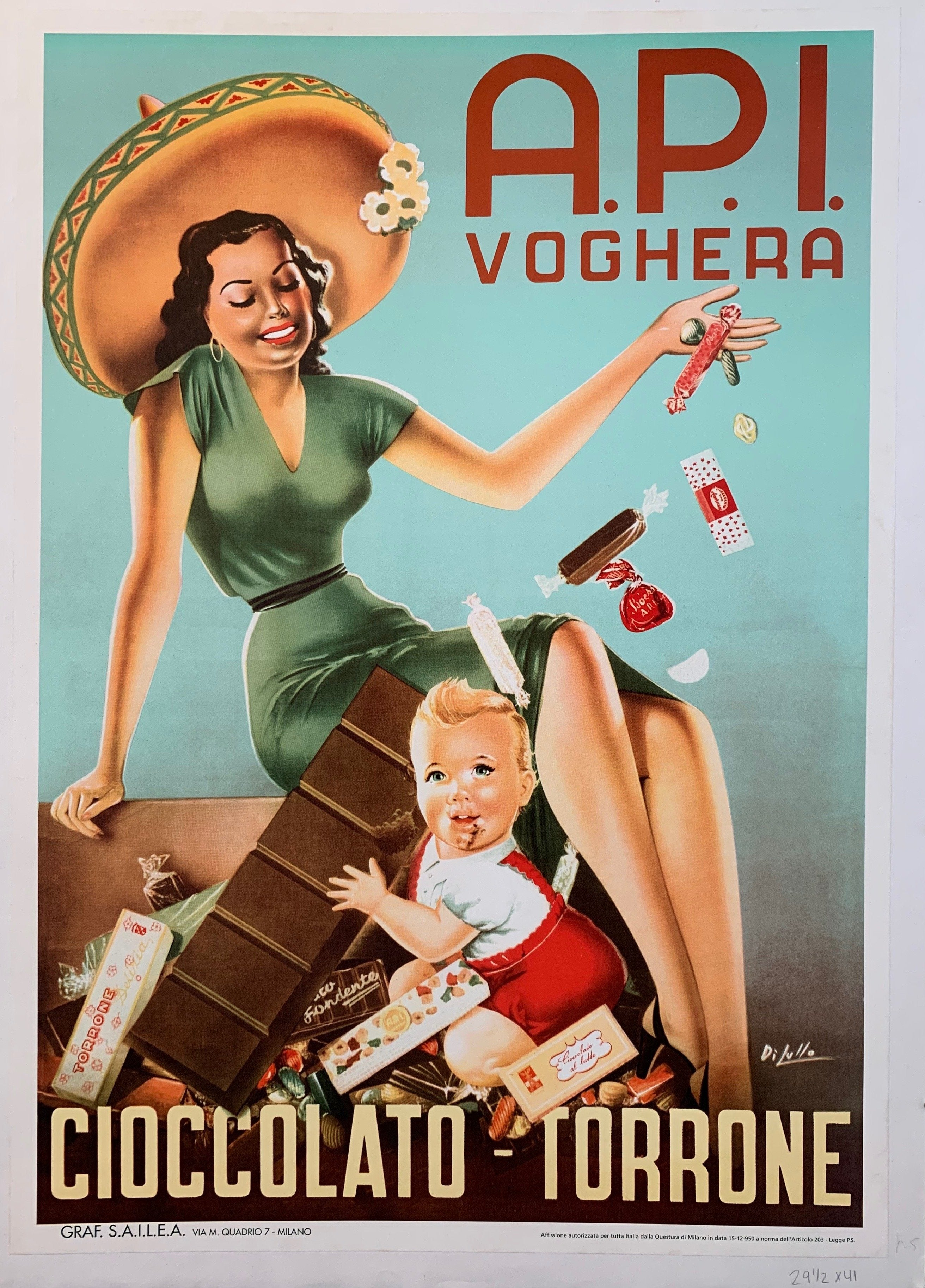 A.P.I. Voghera Candy Advertisement