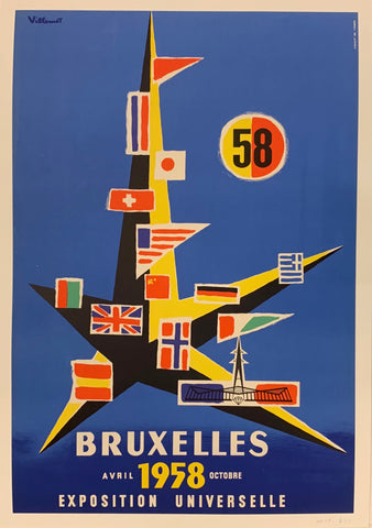 Bruxelles Exposition Universelle Poster